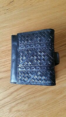 Rocha John Rocha Black Leather Wallet with Coin Compartment