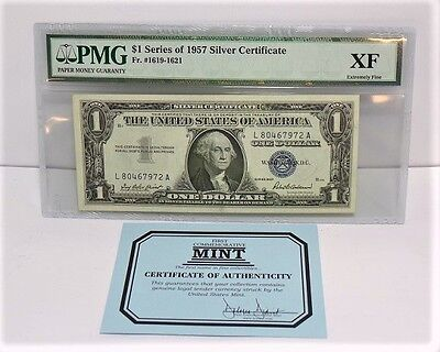 Paper Money Guaranty $1 Series of 1957 Silver Certificate