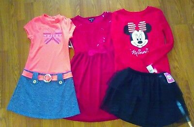 New Nwt Lot of Girls Clothing Dresses Skirt & Shirt Size Large 10 12
