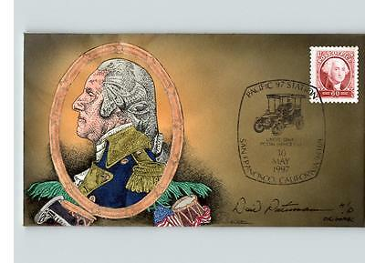Hand Painted by Peterman, President GEORGE WASHINGTON, show cancel PACIFIC '97 F