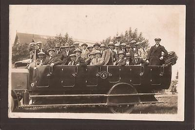 Charabanc Outing. Gentleman`s Trip.  West Ham.  RP.  June 1924.