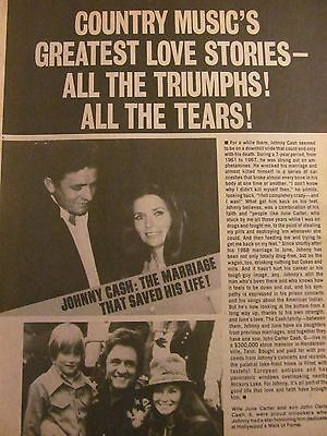 Johnny Cash, Full Page Vintage Clipping