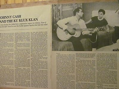 Johnny Cash, Three Page Vintage Clipping
