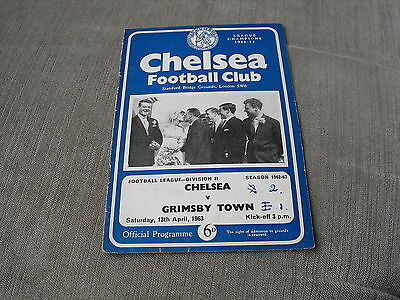 CHELSEA v GRIMSBY TOWN 13/4/63,  FOOTBALL LEAGUE DIVISION 2