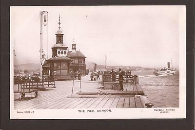 Dunoon. The Pier. Paddle Steam Ferry. RP.