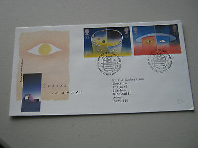 FDC - 1991 - Europe in Space - with Bureau cancel (1740)
