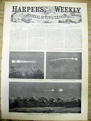 1860 illustrated newspaper wPics UFO Flying Saucer UNIDENTIFIED FLYING OBJECT or