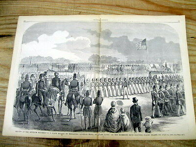 1860 illustrated newspaper w large engraving ofTHE NY SEVENTH REGIMENT on PARADE