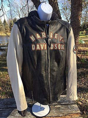Harley Davidson Women's 1903 Leather Jacket With Hoodie Size XL