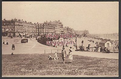 SUSSEX POSTCARD - Grand Parade from Wish Tower, Eastbourne.