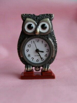 """DOLLS HOUSE """" WORKING"""" OWL CLOCK, (  FREE POSTAGE ) ***price reduced***"""