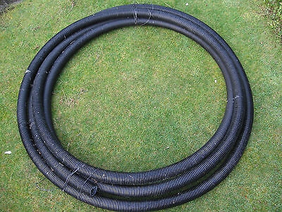 BLACK WATERPROOF CORRUGATED FLEXIBLE SPIRAL CONDUIT TUBE 6 cms CABLE TIDY