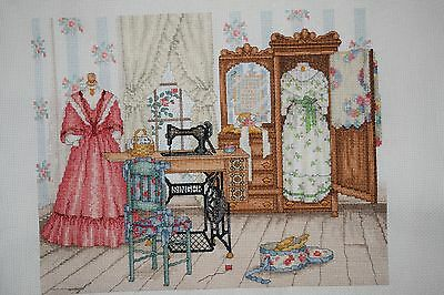 Completed Finished Cross Stitch, Paula Vaughan, Thoughts Of Spring