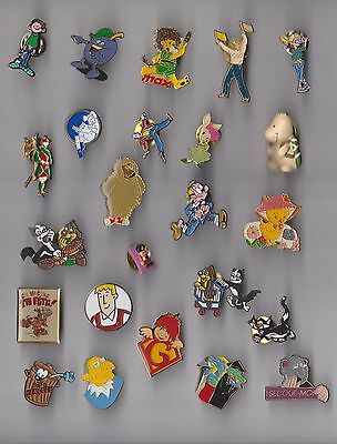 JOB LOT COLLECTION Contemporary Character pin badges Comic Cartoon Company Etc