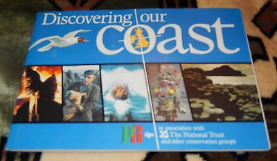1989 Pg Tips Discovering Our Coast Tea Card Album ~ Complete
