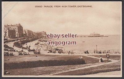 """SUSSEX POSTCARD - Grand Parade from Wish Tower, Eastbourne. (""""Dainty"""")"""