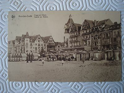 Vintage Postcard of Knocke Zoute with Belgian stamp and special postmark