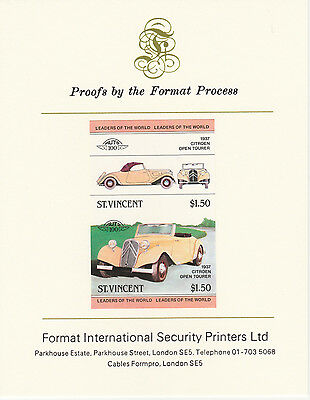 Sy Vincent (2100) - 1983 CARS - Citroen Tourer imperf on Format Int PROOF  CARD