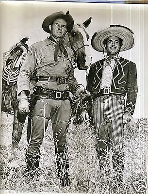 "50S Western 8X10"" Photo * B/w With Borders  * Poncho And Cowboy"