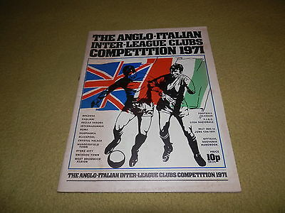 The Anglo-Italian Inter-League Clubs Competition 1971 Official Handbook