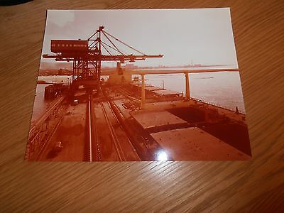 Original, Photo, Of  Unloaders, at the Harbour, Port Talbot Steelworks