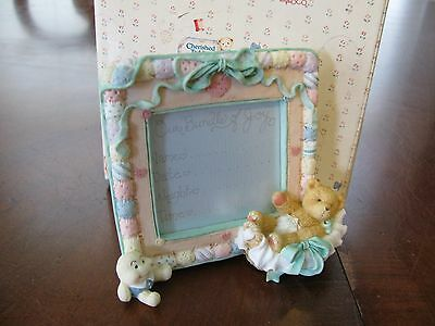 ENESCO NEW Cherished Teddies Baby Memories #11591 Baby Birth Record Frame