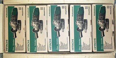 "5 each New Hitachi 4"" Angle Disc Grinder 10,000RPM 110V w/Wrench and Disc G10SR3"