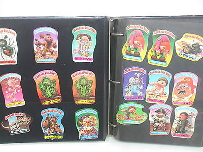 Vintage 1980's Garbage Pail Kids Stickers - Lot of over 2100+ Applied in Album