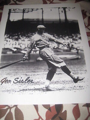 Geo Sisler  8 X 10 Unsigned Picture