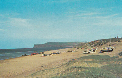 Yachts Beach Boats Parked at Marske By The Sea Coast 1970s Postcard