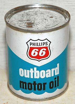 Phillips 66 Outboard Motor Oil 1/2 Pint SAE30 Metal Can Unopened