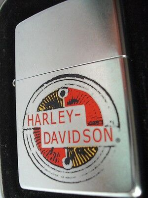 Harley Davidson Motorcycle Gas Tank Decal Zippo Lighter Sealed Nib Vintage 02