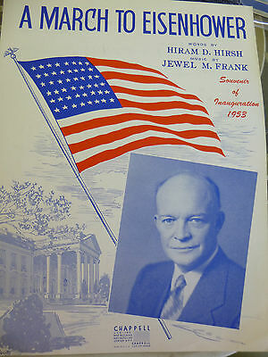 1953 A March to Eisenhower Song Inauguration Souvenir Nice