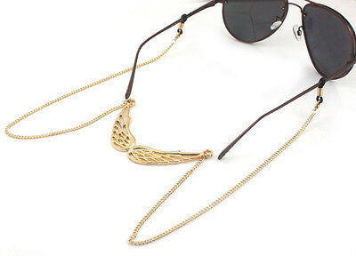 Gold Wing Beaded Eyeglass Cord Reading Glasses Eyewear Spectacles Chain Holder