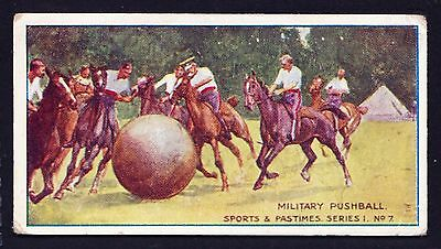 Taddy SPORTS & PASTIMES 1912 #7 Military Pushball *Fair Condition*