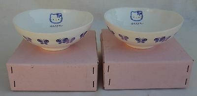 Two (2) New Old Stock SANRIO, Hello Kitty Porcelain Bowls
