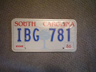South Carolina Palm     License Plate    Buy All States Here