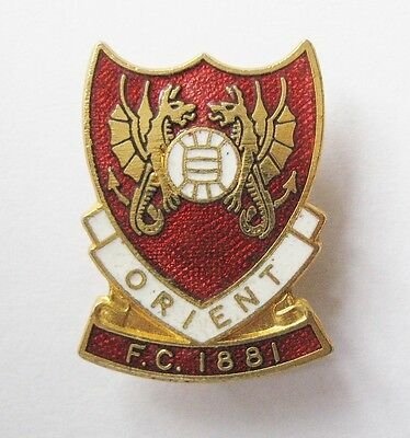LEYTON ORIENT - Superb Vintage Crest Style Enamel Football Pin Badge By Coffer