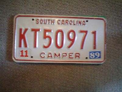 South Carolina Camper        License Plate    Buy All States Here