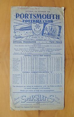 PORTSMOUTH v ARSENAL 1948/1949 *Good Condition Football Programme*