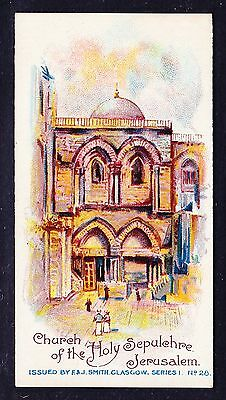 F & J Smith A TOUR AROUND THE WORLD (POSTCARD BACK) 1905 #28 *Exc Condition*