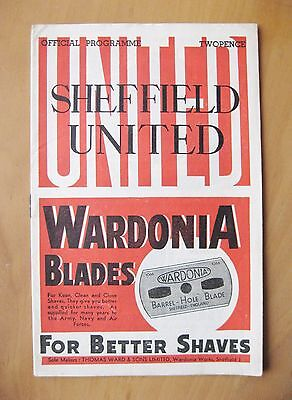 SHEFFIELD UNITED v CARLISLE UNITED FA Cup 1946/1947 Exc Cond Football Programme