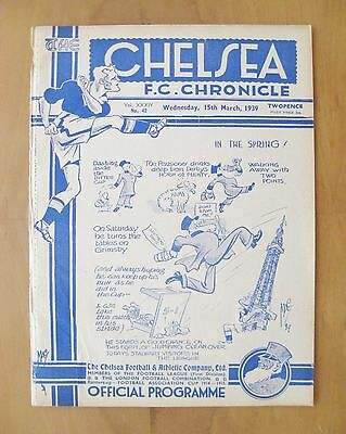 CHELSEA v BLACKPOOL 1938/1939 *VG Condition Football Programme*