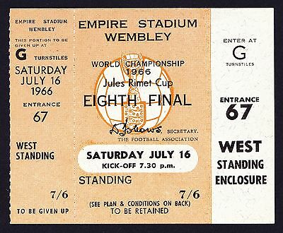 1966 World Cup ENGLAND v MEXICO *Near Mint UNUSED Ticket*