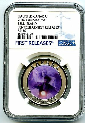 2016 Canada Bell Island Ngc Sp70 Lenticular Crown Quarter First Releases