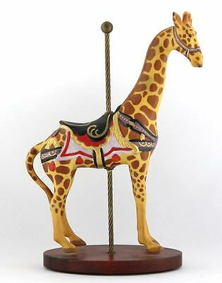 FRANKLIN MINT ~ TREASURY OF CAROUSEL ART SERIES 1 ~ GIRAFFE FIGURINE ~ ca 1988
