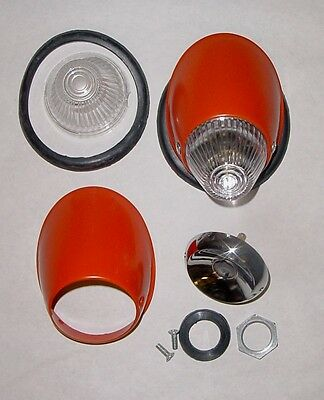 VW beetle bug 1955 - 1957 turn signal assembly clear or amber lens bullet style