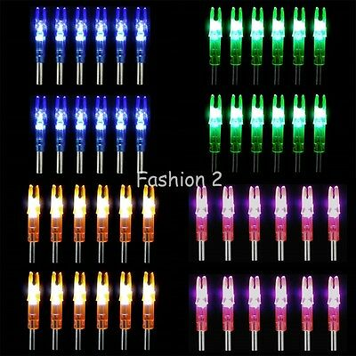 12Pcs Colored Hunting Lighted Nock Led Lighted Luminous Tail Arrow Nocks Parts