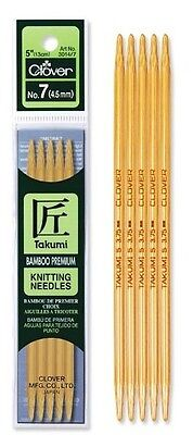 Clover Takumi Premium Bamboo Double Pointed Knitting Needles - Many Sizes