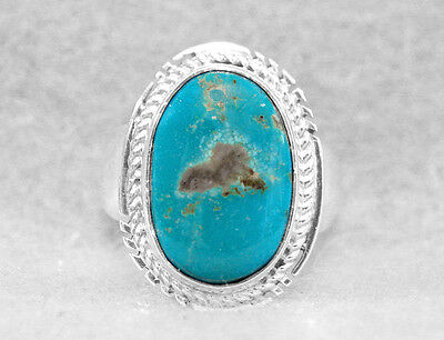 Navajo Ring Size 6 Turquoise Manassa Sterling Silver Native American Indian